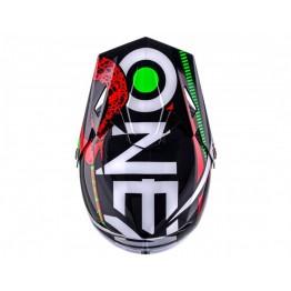 Каска Fullface O'Neal Sonus Strike 59-60 см. L черно-червено-зелена
