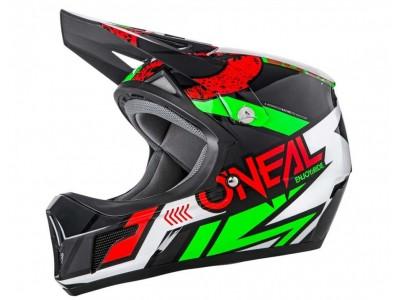 Каска Fullface O'Neal Sonus Strike 59-60 см. черно-червено-зелена