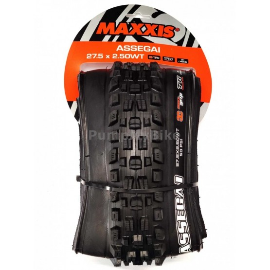 "Външна гума Maxxis Assegai 27,5"" x 2,50 3C / MaxxGrip / DH Casing / TR / WT"
