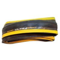 Външна гума Continental Ultra Sport 700 x 25C fold - черна с жълта лента