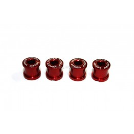 Болтове за единична плоча Venzo - 4 бр. червени
