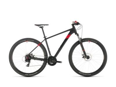 Велосипед CUBE AIM 27,5 - черен / червен стикер