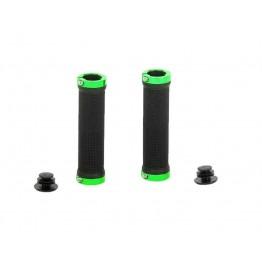 Грипове Crosser HL-G201 - с двойно заключване, черни със зелени пръстени