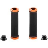 Грипове Crosser HL-G201 - с двойно заключване, черни с оранжеви пръстени