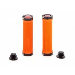 Грипове Crosser HL-G201 - с двойно заключване, оранжеви с черни пръстени