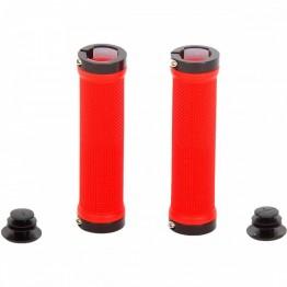 Грипове Crosser HL-G201 - с двойно заключване, червени с черни пръстени