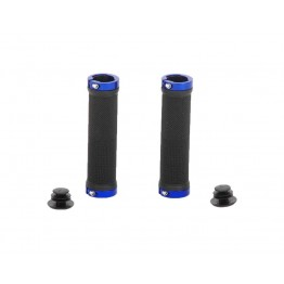 Грипове Crosser HL-G201 - с двойно заключване, черни със сини пръстени