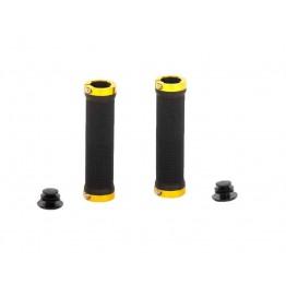 Грипове Crosser HL-G201 - с двойно заключване, черни с жълти пръстени