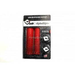 Грипове ODI Troy Lee Design - двойно заключване - червени