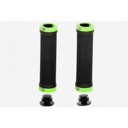 Грипове Crosser HL-G201 - с двойно заключване, черни със светлозелени пръстени