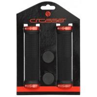 Грипове Crosser HL-G201 - с двойно заключване, черни с червени пръстени