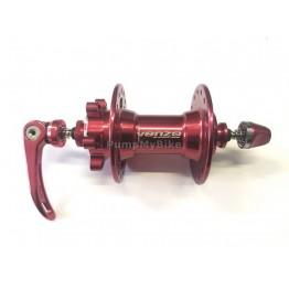Предна главина Venzo 9 x 100, 32H  - червена