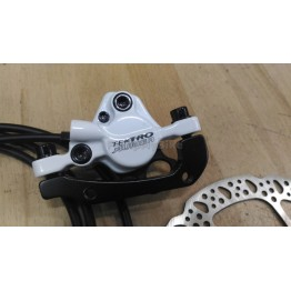 Хидравлична спирачка Tektro Auriga Comp - бяла, предна или задна