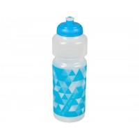 Бутилка за вода Cube RFR - прозрачна, 750 мл. - син стикер