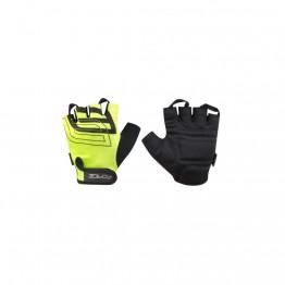 Ръкавици с къси пръсти Force Sport - електриково-жълти XS