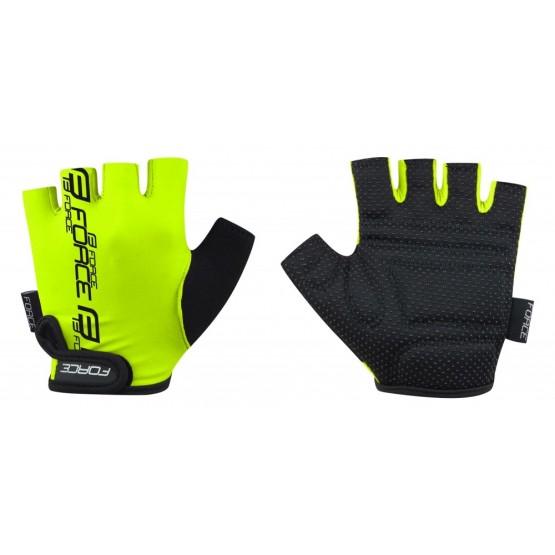 Детски ръкавици с къси пръсти Force Kid Fluo - електриково-жълти M