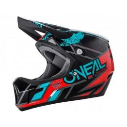 Каска Fullface O'Neal Sonus Strike 59-60 см. черно-червено-синя