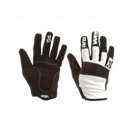 Ръкавици Answer Enduro с дълги пръсти - бели