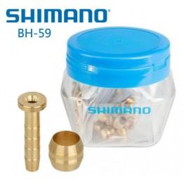 Накрайници за хидравличен маркуч Shimano - 50 броя