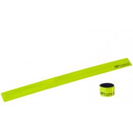 Светлоотразителна лента за крачол Force - жълта