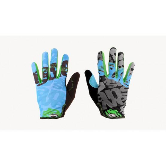 Ръкавици Answer Clash с дълги пръсти M - синьо-зелени