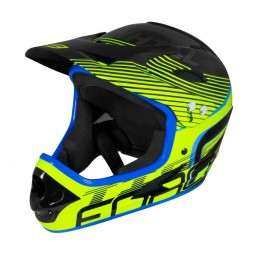 Каска Fullface Force Tiger DH - неоново-жълта S-M