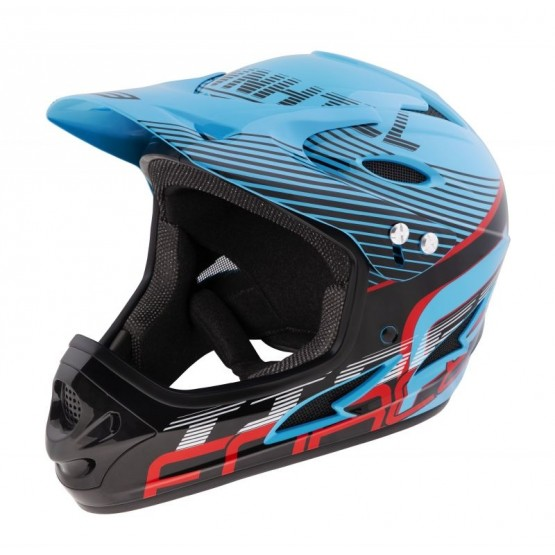 Каска Fullface Force Tiger DH - синя L-XL
