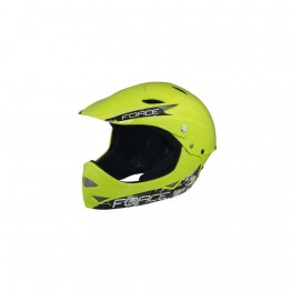 Каска Force Freeride Fullface - жълта, S-M 54-58 см.