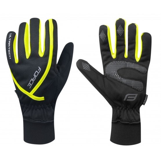 Ръкавици Force Ultra Tech Fluo - зимни, XL