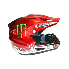 Каска FullFace Monster Energy - M - червена