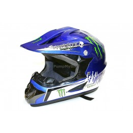 Каска FullFace Monster Energy - M - синя