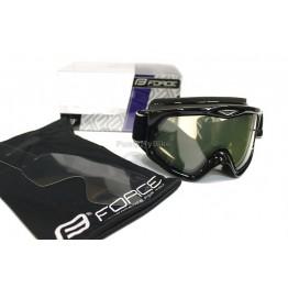 Маска Force DH UV400 - черна, прозрачна плака