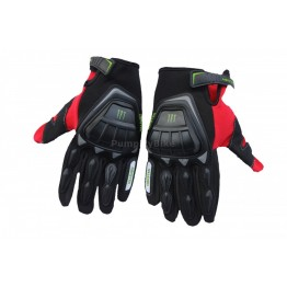 Ръкавици с протекция Monster Energy - червени