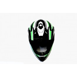 Каска Fullface Kali Naka - зелено-бял, M