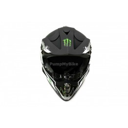 Каска FullFace Monster Energy - M - черен мат