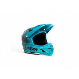 Каска Fullface - Lazer Phoenix - черна на сини петна, М